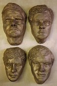4 off Full Size Face model castings (Bronze).