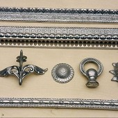 Reproduction Light fitting parts (aluminium)